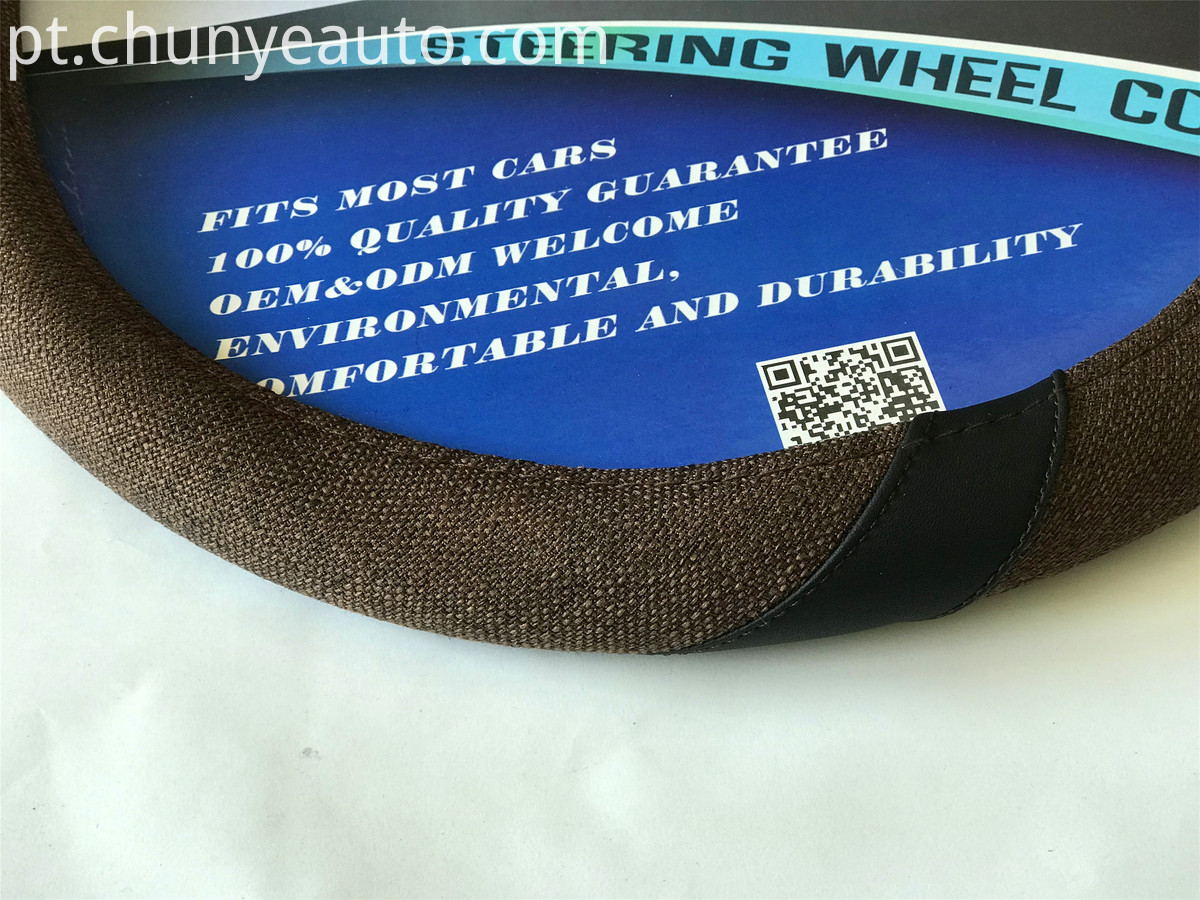 Flax Cloth Automotive Steering Wheel Cover