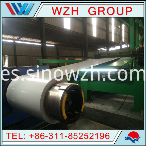 white color steel coil