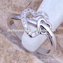 Zhefan reiner Liebesschmucksachen, echter 925 Sterlingsilber-Ring, Großhandelssilberschmucksachen