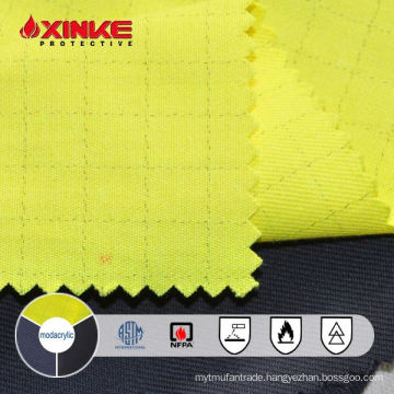 yellow modacrylic/cotton antistatic fr fabric