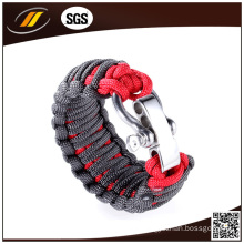 Survival Bracelet with Adjustable Stainless Steel Clasp