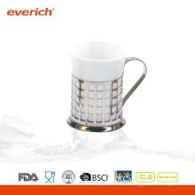 Taza de café de cerámica del viaje del precio bajo de la alta calidad