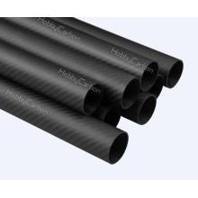 Crescimentos matteos reais da fibra do carbono do rolo da sarja 3k de 19x16x1000mm, tubos completos personalizados da fibra do carbono