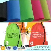 Tela não tecida do polipropileno de Spunbond usada para sacos de compras