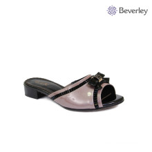 BEVERLEY genuine leather low heel women slipper