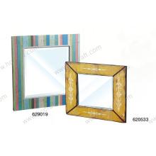 Espejo de colores para la decoración del hogar