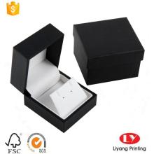 caixa de presente de jóias de plástico com empacotador de papel