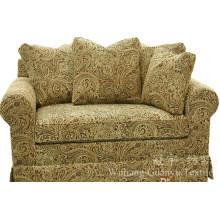 Tecido de camurça de poliéster de pele de jacquard com apoio para sofá