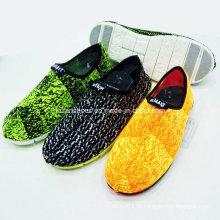 Novo Estilo Moda Masculina Slip-on Tecido Têxtil Calçados Esportivos Calçados Casuais