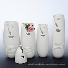 B109 florero de la decoración de la flor de la porcelana del diseño creativo para el hotel
