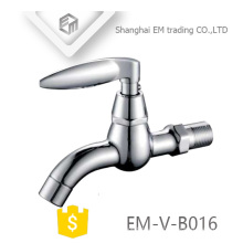 EM-V-B016 Grifo de latón cromado para lavadora de cuello largo y pulido