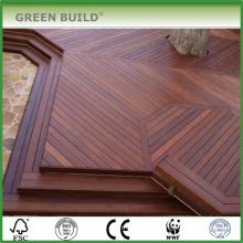 Coffee color distressed Anti-slip IPE hardwood outdoor decking