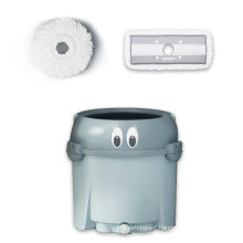Lazy 360 Microfiber Kitchen Dust Rotating Floor Metal Cleaning Round Magic Spin Mop Bucket