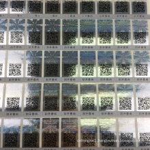 Anti-Counterfeit 3D Laser Hologram Sticker with Qr Code