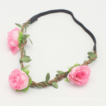 Pink Festival Party Wreath Flower Girls Hairband (HEAD-285)
