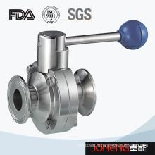 Нержавеющая сталь Санитарно зажатый малый размерный клапан-бабочка (JN-BV4004)