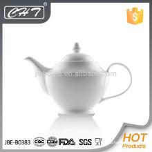 Hot sale high quality porcelain tea pot with handle