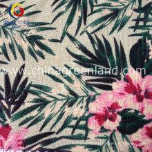 Cotton Linen Printed Fabric for Shirt Bags Garment (GLLML129)