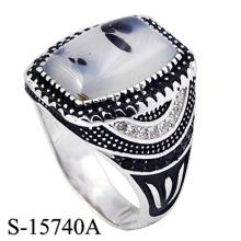 Anillo de joyería fina de plata de ley 925 para hombre
