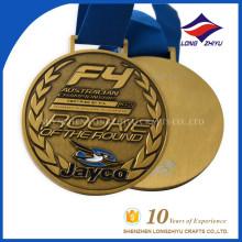 Australische Meisterschaft Metall Antike Goldmedaille Custom Finisher Sportmedaille
