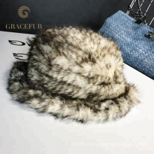 Windproof customized knitted brimmed wool hat