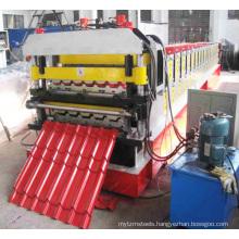 Roladora Perfiladora Para Fabricar Tejas Metalicas Coloniales Panel De Control PLC 5000kg CN;LIA Parede Y Techos
