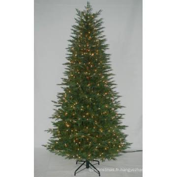 Arbre de Noël artificiel réaliste avec une lumière à cordes Décoration incandente multi couleur (AT2121)