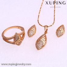 62010-Xuping Moda Mulher Jewlery Set com Banhado a Ouro 18K