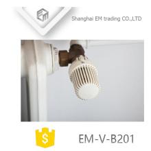 EM-V-B201 Válvula de radiador de ángulo de latón termostático automático