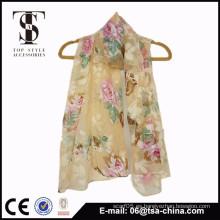 Bufanda de moda y hermosa de la gasa venta al por mayor shawl de la playa