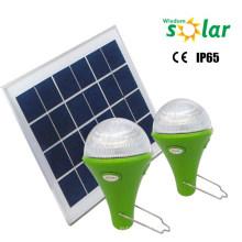 Alto brillo Solar recargable bombilla de 3W con soporte de acero inoxidable