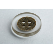 Transparent buttons for trench coats