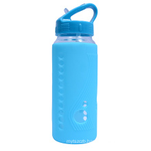 New arrival 550ml Glass Water Bottles Outdoor Drinking Cup Leak-Proof With Tea Infuser Cover