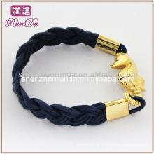 2014 itens de presente quente pulseiras de corda de cera moda com hipocampo