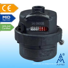 MEDIADOS certificado volumétrico pistón tipo de medidor de agua plástico