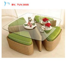 Hotel Patio Wicker Dining Table with Clear Grass (CF788T+CF788C)