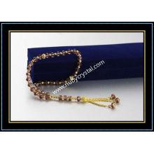 33PCS Nature Color Muslim Crystal Prayer Beads (K4)