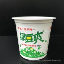 Цена завода Пищевой Белый ПП Еда на вынос 10 унций / 315 мл Одноразовые пластиковые Мороженое