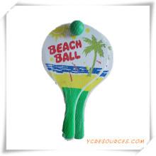 Regalo de la promoción para personalizar raqueta de playa de madera con bola OS05001