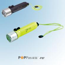 CREE Q5 LED Waterproof Diving LED Lampe de poche (POPPAS-F97)