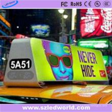 Luz superior do táxi do diodo emissor de luz do lado do dobro P4 para a propaganda video