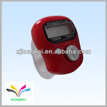 2013 fasional promotional gift red muslin electronic digital finger manual tally counter