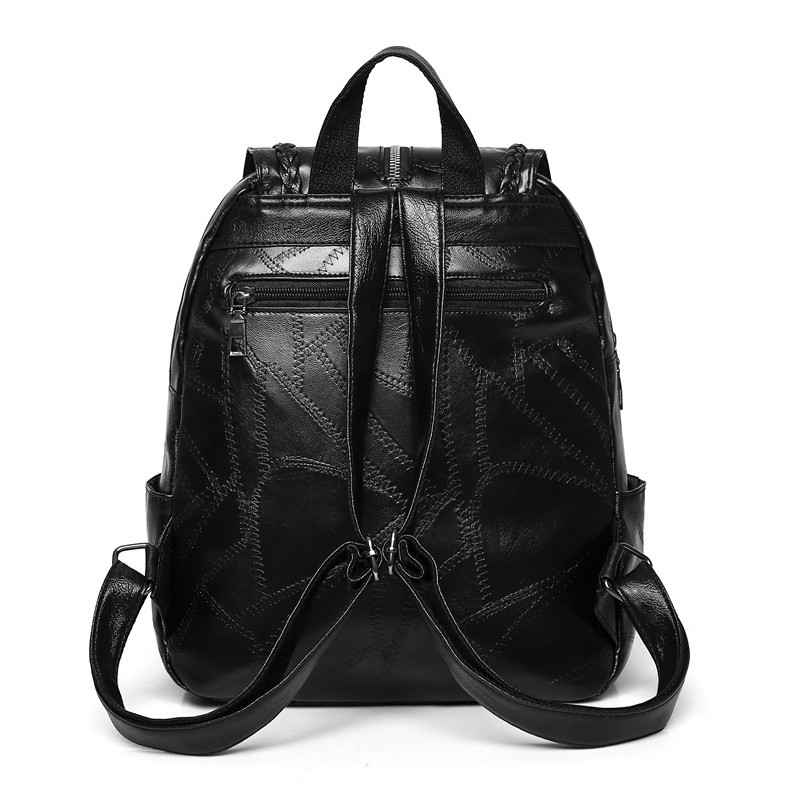 Business Leather Men Backpack