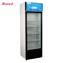 Supermarket Supplies Refrigeration Equipment Upright Glass Chiller Display Showcase
