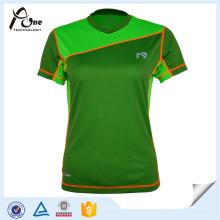Sport-Abnutzungs-Frauen-kundenspezifisches T-Shirt