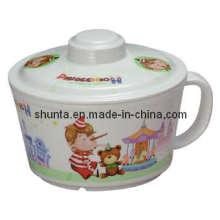 100%Melamine Dinnerware-Kid′s Ramen Mug W/ Cover Melamine Bowl (pH635S)
