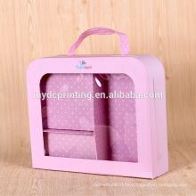 Luxus Baby Kleidung Box Marke Griff Verpackung mit Fenster