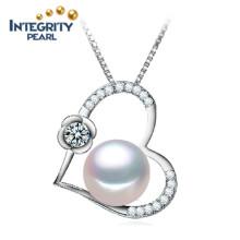 10-11mm semi-redonda AAA água doce forma do coração pingente de pérola da jóia