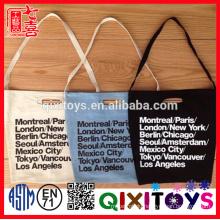 new design cotton canvas ladies' handbag at low price