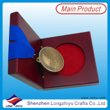 Antique Gold Medals and Trophies Medal Engraved Old Finishing Medal Just The Beginning Medal with Real Wood Medal Box (lzy0044)